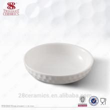 Gros articles ménagers en céramique, plat rond blanc servant des plats japonais pour collation