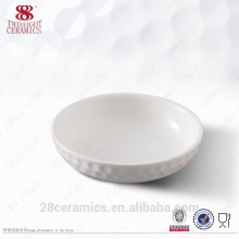Wholesale ceramic houseware, white round japanese serving dishes for snack