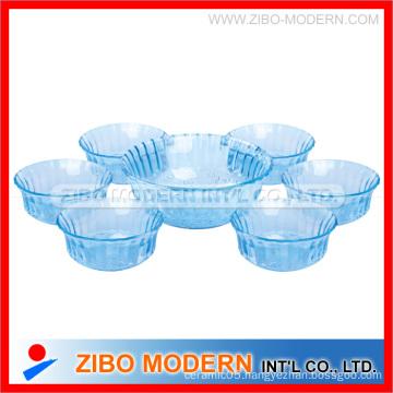 7PC Color Glass Salad Bowl Set