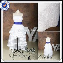 RSW536 плюс Размер передней короткие и длинные назад Королевский-синий-и-белый-свадебные-платья