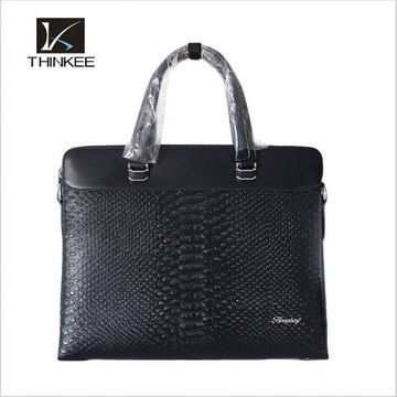 Executive Mens Leather Briefcase for Laptop with card slot and tablet holder