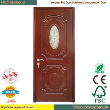Simple puerta de madera dormitorio de madera puerta puerta de PVC de la máquina