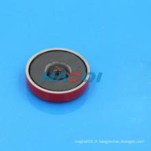 Aimants en forme de cuvette en ferrite en céramique encastrée en couleur