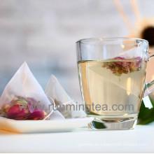 Bolsas de té de pirámide transparente de nylon compostable