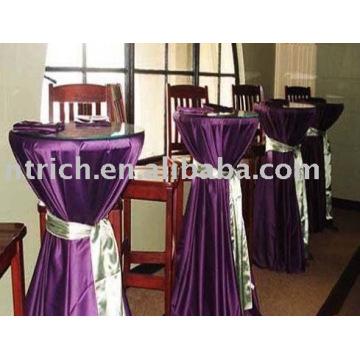 Tampa da mesa de cetim, toalhas de mesa de Bar/banquete, toalha de mesa