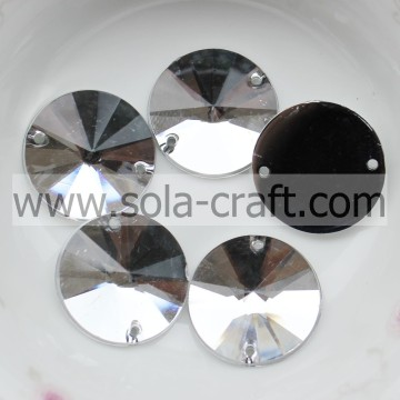 Charmer 18 MM Full Cut amande Perles cristal artificiel perles transparentes