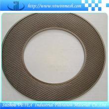 Disco de filtro de aço inoxidável com furo redondo