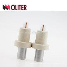 OLITER tungsten rhenium descartável imersão kw sensor de temperatura de termopar dispensável com fabricante de gafas de escória de alumínio