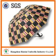 10 Panel 2 Fach großen Regenschirm für zwei Personen mit gebogenen Griff
