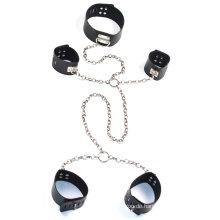 Sm Werkzeuge Sex Handschellen Knöchel Cuff Hals Ring mit Metall Kette Sex Bondage Sex Restraint Sm Set