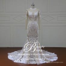 XF16101 mais recente vestido sexy boho para casamento vestido de noiva sereia