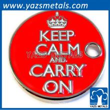 Halten Sie Clam Messing Trolley Münze