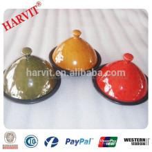Calor resistente a la cerámica de gran Tajine Pot color acristalado de cerámica Cookware