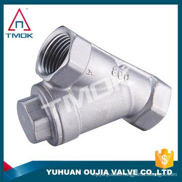 """1/2"""" CF8M low pressure BSP female thread ss316 304 carbon steel y strainer in TMOK"""