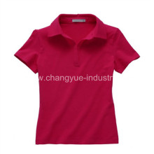 Fashion Woman Blank Casual Polo T-shirt