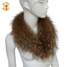 Natural real pieles de mapache pieles mujeres hombres chaqueta desmontable piel collar