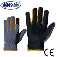 NMSAFETY свинья зерно кожа рабочие перчатки магия пряжка