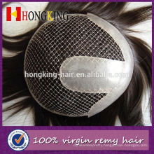 Indian Virgin Hair Natural Frontline French Lace Toupee