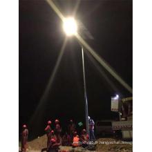 Prix du réverbère solaire de Polonais de 5m LED avec la batterie au lithium