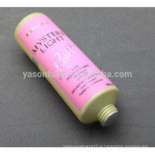 Tubo de plástico redondo para creme corporal e loção