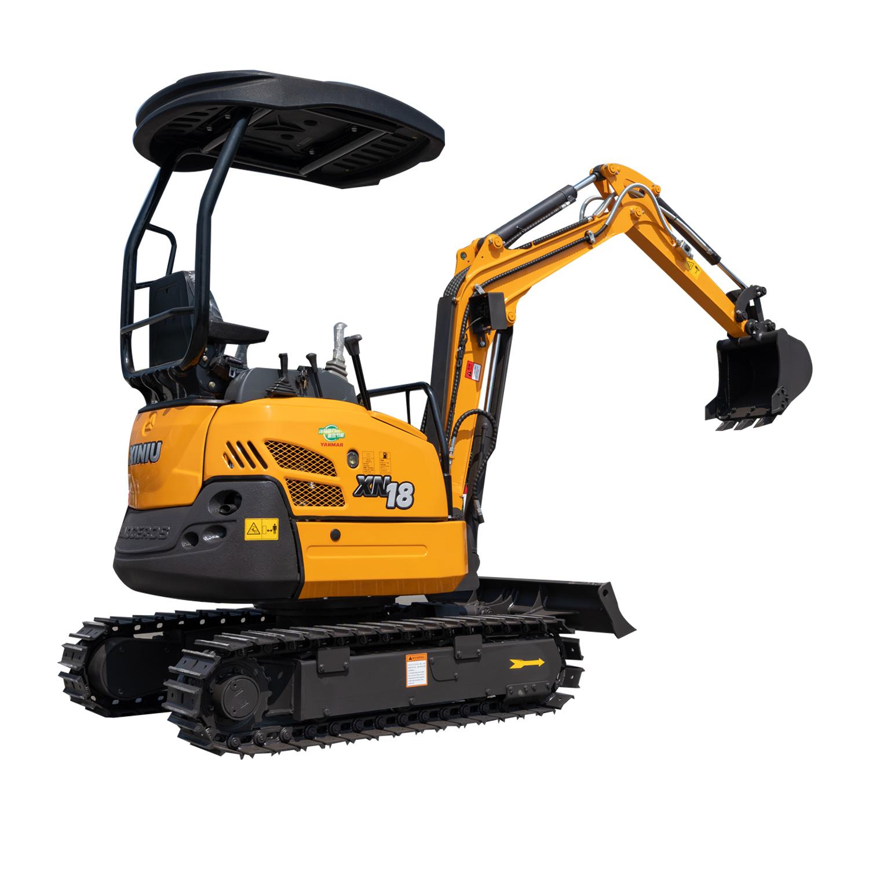 mini excavator with swing boom