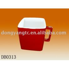 Factory direct wholesale 13oz square ceramic mug cup