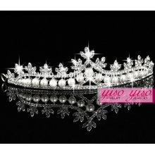Corona colorida del rhinestone del feliz cumpleaños de la manera