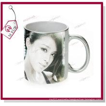 11oz Silver Ceramic Mugs for Sublimation by Mejorsub