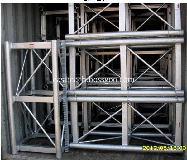 Construction Hoist Spare Part Double Rack Mast Section