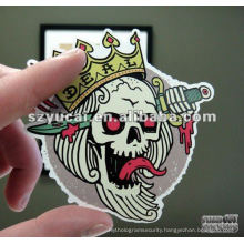 customized die cut plastic sticker