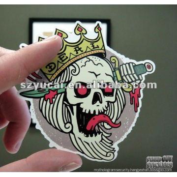 customized die cut plastic sticker