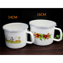 16cm(2000ml) enamel mug with popular decal