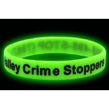 2016 Promoção Presente Glow nas pulseiras de silicone escuro