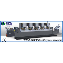 Máquina de impresión de etiqueta prensa intermitente