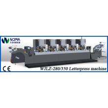 Máquina de impressão de rótulo de tipografia intermitente