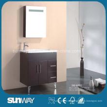 Suelo de pie MDF Baño Vanity con gabinete de espejo