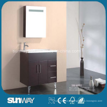 Suporte de assoalho MDF vaidade de banheiro com gabinete de espelho