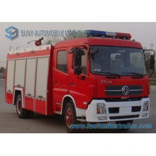 Dongfeng 2axles 6cbm eau et camion de lutte contre l'incendie de réservoir de mousse