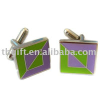 Gemelos quadrados em metais com imitação de esmalte duro