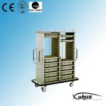 Carrito de la medicina médica del hospital (P-9)