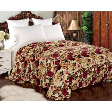 Manta del paño grueso y suave de la franela del diseño floral para la materia textil casera