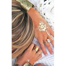 Tatuagem de Henna Bling etiqueta personalizada tatuagem temporária metálica