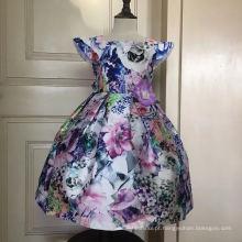 Flor princesa meninas vestido