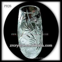 Magnifique récipient en cristal P026