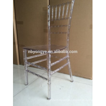 Monobloc crystal resin chiavari chair