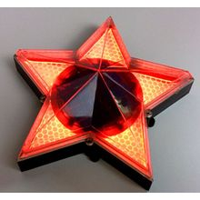 Pentagram Five-Pointed Star Lámpara de pared decorativa solar Light