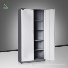 two door metal adjustable shelf cabinet for office filing storage
