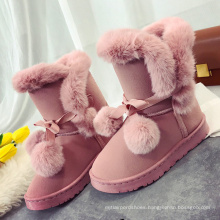2021 New Product Wholesale Fashion Ladies suede fur  Multi Color Women Winter Snow Boots for women warm cute outdoor