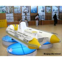 Hochwertiges Fiberglas Ruderboot Aufblasbares Boot Kleine Rippe