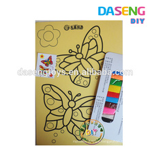 Butteryfly designs of sand art cards for birthday party